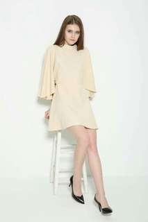 Batwing Sleeve Plain Dress