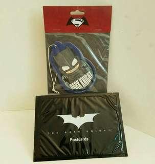 罕有電影版:Batman The Dark knight 套裝明信片+Hot Toys DC掛卡牌  (收藏品)