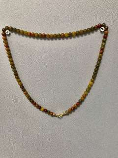 Amulet necklace 6mm beads 65cm  (beads make from dragon scale agate pls google )