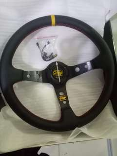 Omp Steering Wheel (Leather)