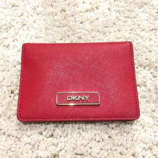 DKNY Red Card Holder