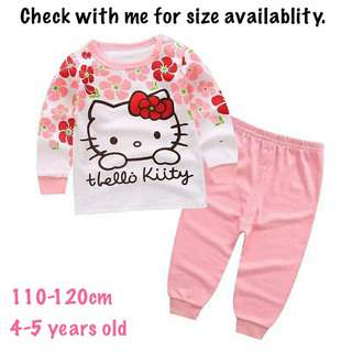 Hello Kitty Long Sleeve Pajamas Set