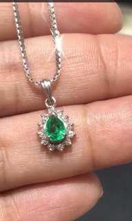 祖母綠鑽石項鏈