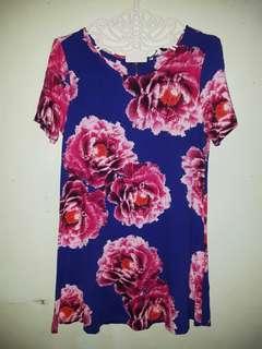 M&S long floral top