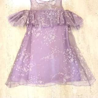 FREE ONGKIR dress purple