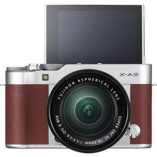 Bisa Kredit Fujifilm XA3 Kit XC16-50mm f3.5-5.6 OIS II (Brown) + Instax Mini 8