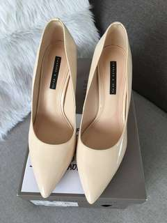 Charles & Keith Nude Heels Shoes
