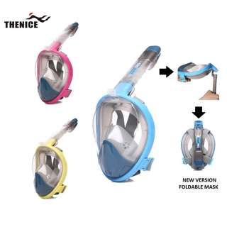 ORIGINAL THENICE V3-F1 Foldable Tube Full Fave Snorkeling Mask