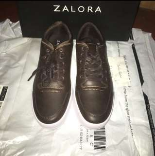 Repriced Zalora Faux Leather Sneakers