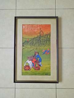 Vintage Oil Painting Frame Size 49x32cm
