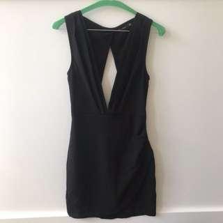 Paradiso Black Going Out Mini Dress Size 8