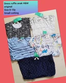 Dress ruffle anak h&m ORI 100rb 3pc/ dress branded