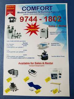 Supplies & Rental Of Medical Equipment