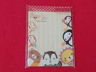 Squly & Friends memo pad