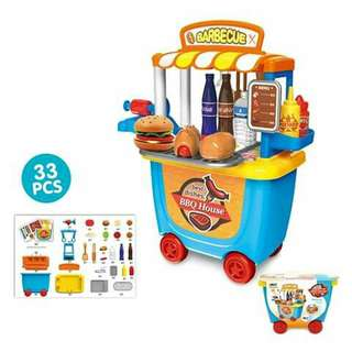 Barbeque Cart Play Set
