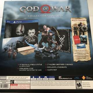 WTS/WTT- PS4 God of War 4 Collector's Edition (SteelBook Edition)