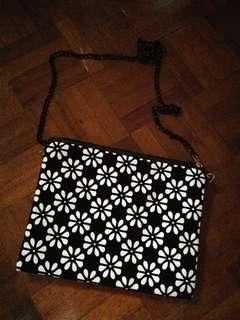 Flower printed sling bag