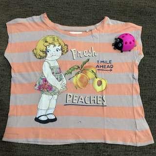 Tshirt peach Gingersnaps