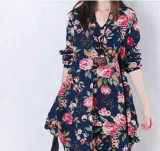 PLUS SIZE FORAL DRESS (NEW)