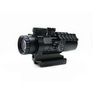 🚚 台南 武星級 ASG 戰術 3X32 3倍鏡 (內紅點紅外線外紅點定標器紅雷射望遠鏡狙擊鏡瞄具快瞄玩具槍CO2槍BB彈BB槍生存遊戲