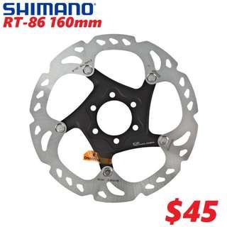 Shimano RT86 160mm 6-Bolt Disc Rotor-------- (XTR M9020 XT M8020 M8000 M785 SLX M7000 M675 M315 MT2 MT4 MT5 MT5E MT6 MT7 MT8 Trail) Dyu