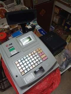 Cashier machine, receipt printed and barcode scanner