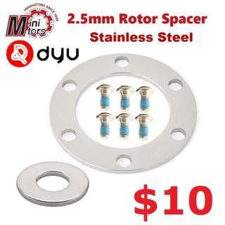 Stainless Steel Rotor Spacer Rotor Spacer for DYU, Dualtron, Speedway 4, Ultron..-------- (XTR M9020 XT M8020 M8000 M785 SLX M7000 M675 M315 MT2 MT4 MT5 MT5E MT6 MT7 MT8 Trail) Dyu