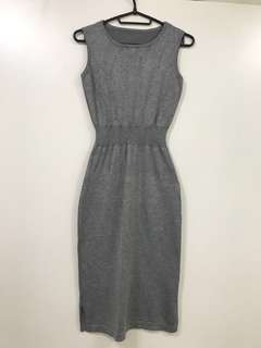 Gray Stretchy Material Dress