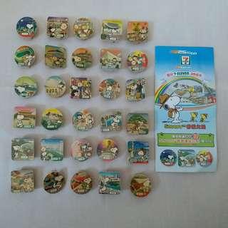 【興趣收藏】7-11 x Snoopy香港之旅磁石夾 (全套)