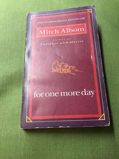 For One More Day by Mitch Albom REPRICED !!!