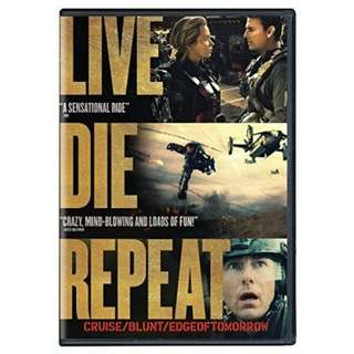 BRAND NEW DVD - LIVE. DIE. REPEAT. / EDGE OF TOMORROW (ORIGINAL USA IMPORT CODE 1)