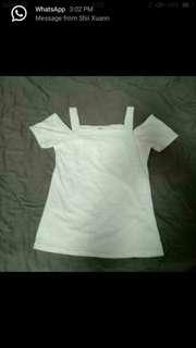 BN Ulzzang white off shoulder top