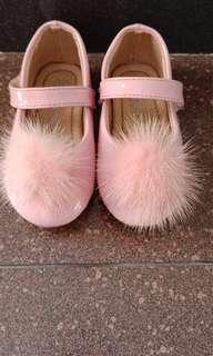 PINK Pom Pom Shoe