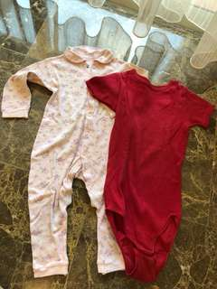 Mothercare jumpsuit and Marks&Spencer Onesies