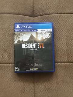 Game ps 4 RESIDENT EVIL BIOHAZARD (ps vr compatible)
