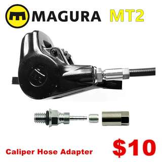 Magura MT2 Caliper Hose Adapter--------  (Magura MT2 MT4 MT5 MT5e MT6 MT7 MT8 Trail XTR M9020 XT M8020 M8000 M785 SLX M7000 M675 M315 ) DYU