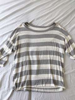 FOREVER 21 STRIPPED TOP