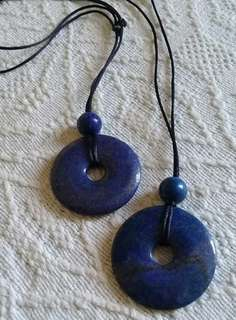Donut shape Lapis Lazuli Pendants (price per piece)