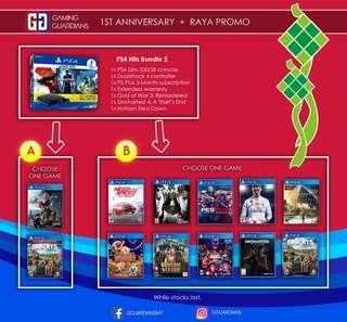 PS4 Hits Bundle 2 + Games