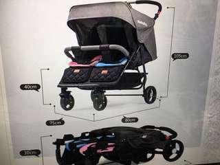Seebaby t22 twins stroller