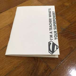 Printing of customized A6 size pocket size notebook