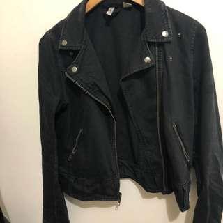H&M denim biker Jacket