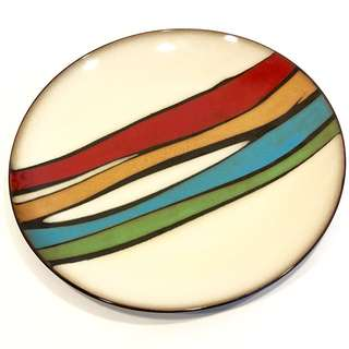 🚚 Sale🎊《覓寶吧》生活工場 Working House 古樸彩繪 陶瓷 大盤子~
