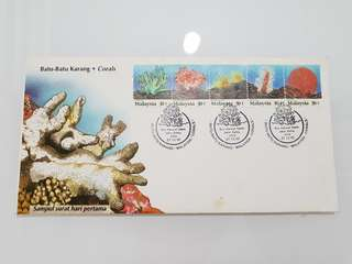 corals first day cover Malaysia 1992
