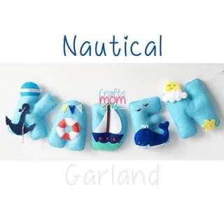 Nautical Felt Name Garland