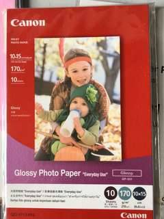 Canon Glossy Photo Paper 4x6 inch (10 sheets)
