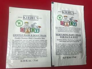 Kiehls baby gentle hair and body wash and nurturing baby cream for face and body hydrating moisturizer