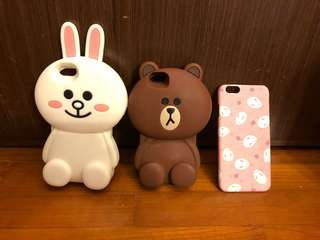 iPhone 6/6s Case Line Cony Brown and Japanese Bunny