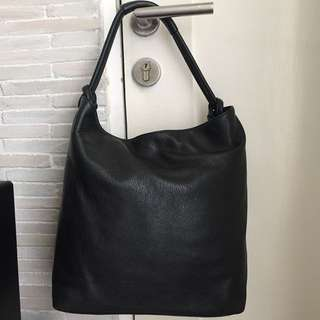 Oroton Kiera Large Black Leather Bag