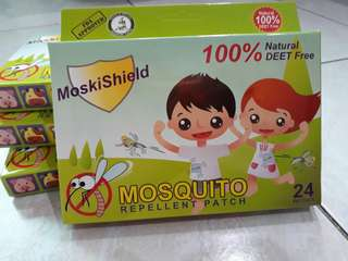 4 boxes of Moskishield Mosquito repellatlnt patch